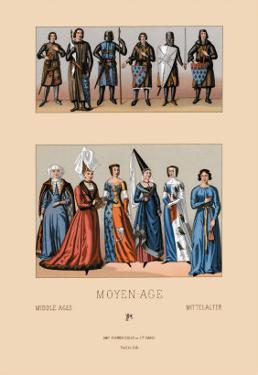 Knights and Maidens of the Middle Ages by Racinet