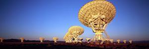 Radio Telescopes in a Field, Very Large Array, National Radio Astronomy Observatory, Magdalena, ...