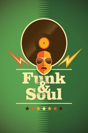Funk and Soul Poster. Vector Illustration.