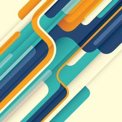 Modern Abstract Illustration in Color. Vector Illustration.