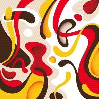 Modern Liquid Abstraction. Vector Illustration.
