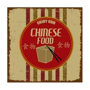Chinese Foods Vintage Poster by radubalint