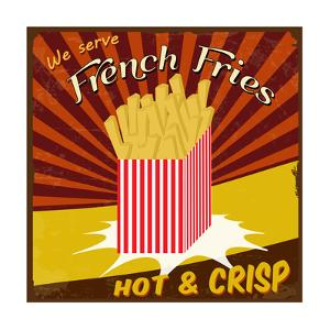 French Fries Vintage Poster by radubalint