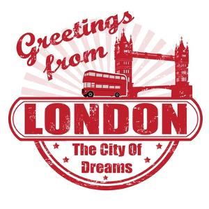 Greetings From London Stamp by radubalint