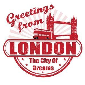 Greetings From London Stamp by radubalint