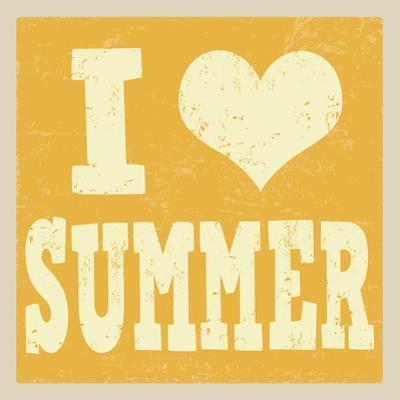 I Love Summer Poster by radubalint