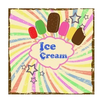 Ice Cream Vintage Poster by radubalint