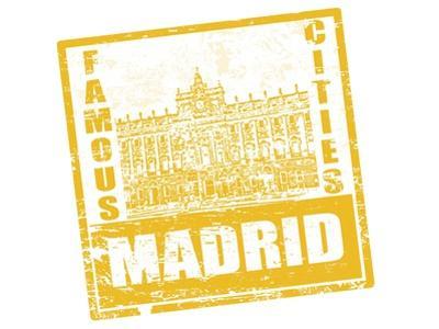 Madrid Stamp by radubalint