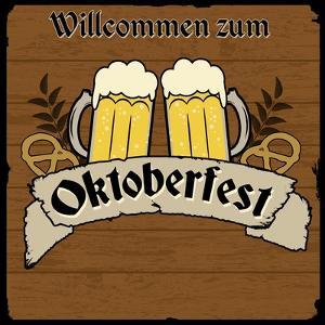 Oktoberfest Retro Poster by radubalint