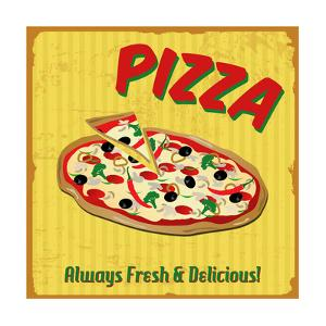 Pizza Vintage Poster by radubalint