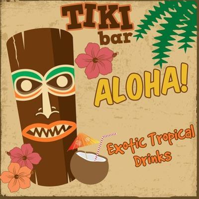 Tiki Bar Vintage Poster by radubalint