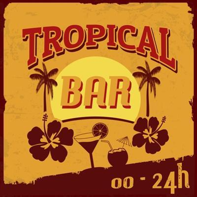 Tropical Bar Poster by radubalint