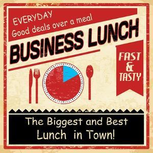 Vintage Business Lunch Grunge Poster by radubalint