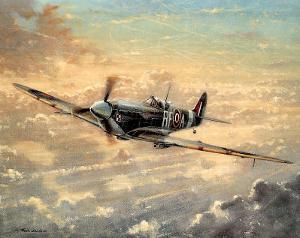 RAF Spitfire WW II Art Print POSTER Battle Britain UK