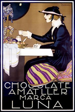 Chocolate Amatller, Luna by Rafael de Penagos