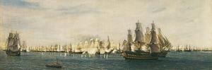 Battle of Trafalgar by Rafael Monleon Y Torres