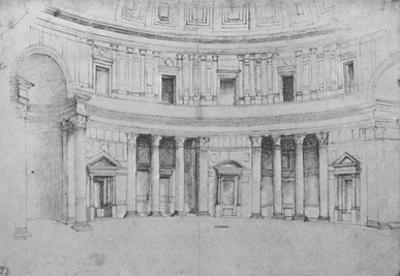 Raffael (Interior of the Pantheon in Rome) Art Poster Print