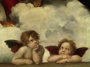 Putti, Detail from the Sistine Madonna by Raffael