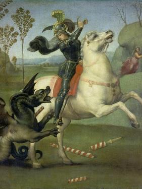 St. George Fighting the Dragon, C. 1505 by Raffael