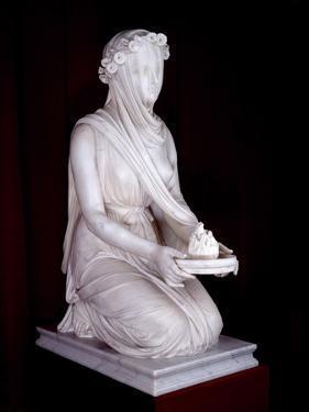 Statue of a Vestal Virgin by Raffaello Monti