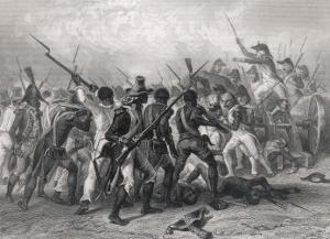 Haiti: French and Patriots in Hand-To-Hand Combat by Raffet