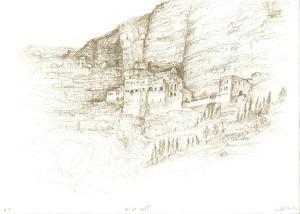 Cliff by Masada by Raffi Kaiser