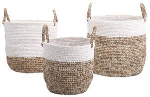 Raffia & Lace Basket Set *