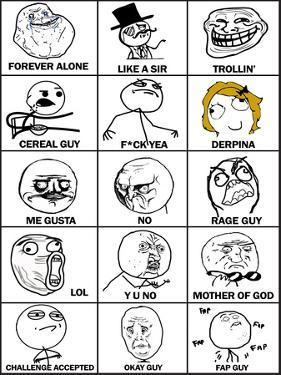 Rage Comics Chart
