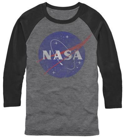 Raglan: NASA- Distressed Iconic Logo
