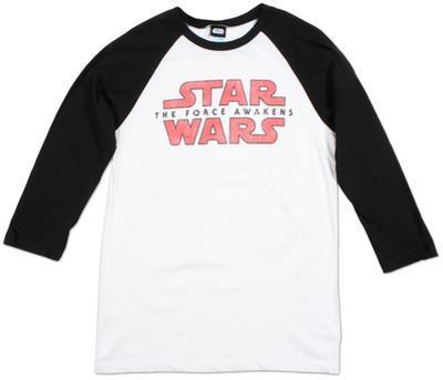 Raglan: Star Wars The Force Awakens- Logo Fracture