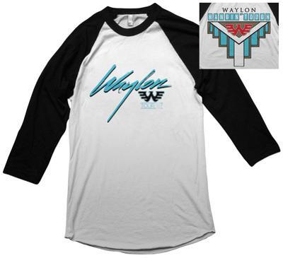 Raglan: Waylon Jennings- Hangin Tough (Front/Back)