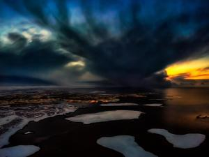 Dramatic Skies over Reykjavik, Iceland Digital Composite by Ragnar Th Sigurdsson