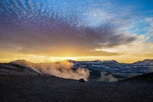 Geothermal Hot Springs, Mud Pots and Fumaroles, Namaskard Close to Lake Myvatn, Northern, Iceland by Ragnar Th Sigurdsson