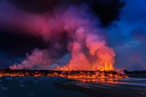 Glowing Lava, Eruption at the Holuhraun Fissure, Bardarbunga Volcano, Iceland by Ragnar Th Sigurdsson