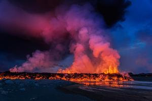 Glowing Lava, Eruption at the Holuhraun Fissure, Bardarbunga Volcano, Iceland by Ragnar Th Sigurdsson