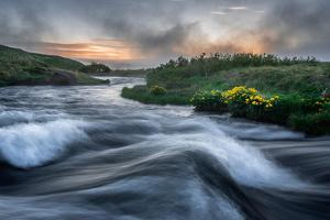 Laxa River in Thingeyjarsysla, Myvatn, Iceland by Ragnar Th Sigurdsson