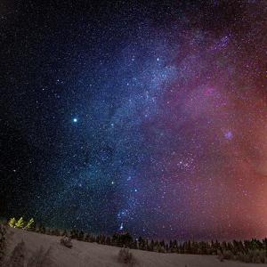 Milky Way Galaxy with Aurora Borealis or Northern Lights, Lapland, Sweden by Ragnar Th Sigurdsson