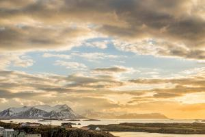 Sunset over Stykkisholmur, Snaefellsnes Peninsula, Iceland by Ragnar Th Sigurdsson