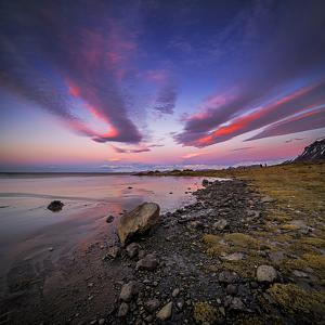 Sunset, Stokksnes, by Hofn and Hornafjordur, Iceland by Ragnar Th Sigurdsson