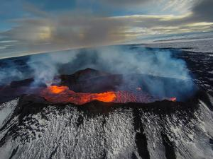 Volcano Eruption at the Holuhraun Fissure, Bardarbunga Volcano, Iceland by Ragnar Th Sigurdsson