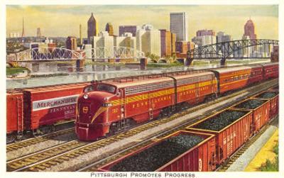Rail Yards and Skyline, Pittsburgh, Pennsylvania