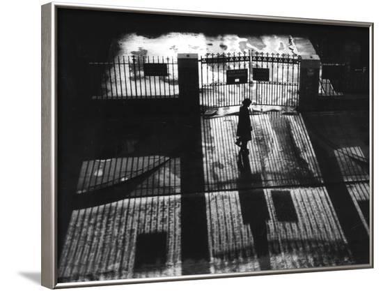 Railings Shadows--Framed Photographic Print
