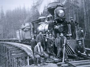 Railroad Construction Crew, 1886