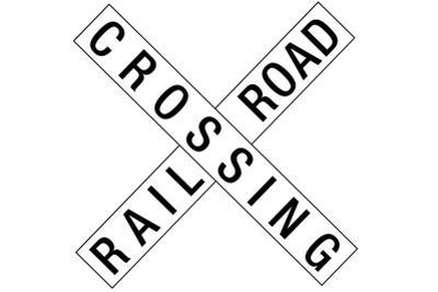 Railroad Crossing Crossbuck Traffic Plastic Sign