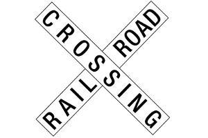 Railroad Crossing Crossbuck Traffic Plastic Sign