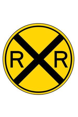 Railroad Crossing Plastic Sign