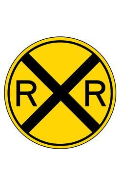 Railroad Crossing Plastic Sign