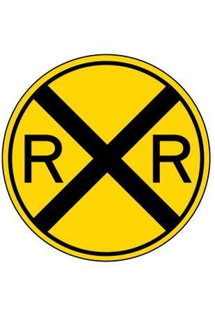 Railroad Crossing Sign Print Poster