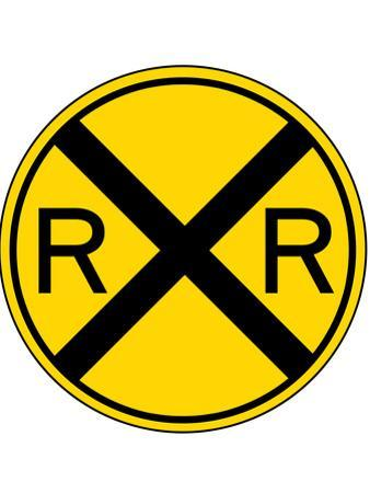 Railroad Crossing Sign Print Poster