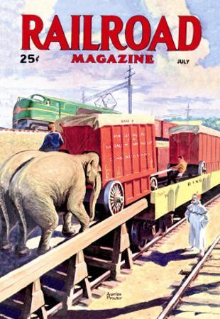 Railroad Magazine: The Circus on the Tracks, 1946